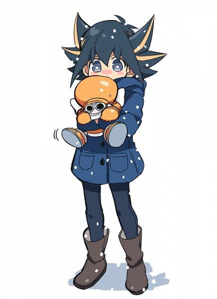 Tags: Anime, Pixiv Id 9713212, Yu-Gi-Oh! 5D's, Yu-Gi-Oh!, Yusei Fudo, Junk Synchron, Mouthless, Roange Shoes, Orange Headwear, Orange Glove, No Nose, Orange Hat, Fanart