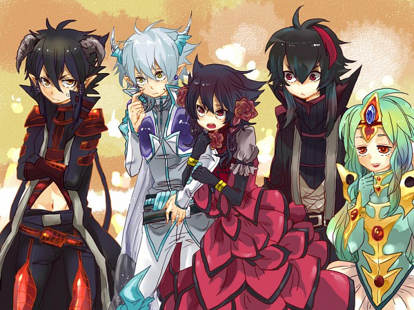 Tags: Anime, Kemekoco, Yu-Gi-Oh! 5D's, Yu-Gi-Oh!, Black-Winged Dragon, Red Dragon Archfiend, Ancient Fairy Dragon, Izayoi Aki, Black Rose Dragon, Stardust Dragon, Ancient Fairy Dragon (Cosplay), Black Winged Dragon (Cosplay), Ryuumimi