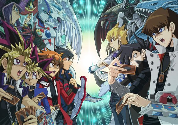 Tags: Anime, Raku623, Yu-Gi-Oh! Duel Monsters, Yu-Gi-Oh!, Silent Magician, Armed Dragon LV10, Elemental HERO Neos, Sorcerer, Group Versus Group, Pixiv, Fanart From Pixiv, Fanart