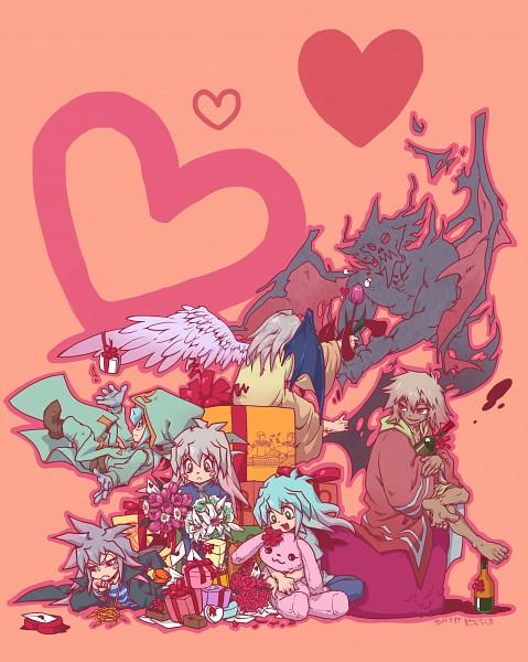 Tags: Anime, Pixiv Id 274942, Yu-Gi-Oh! Season Zero, Yu-Gi-Oh!, Yu-Gi-Oh! Duel Monsters, Thief King Bakura, Yami Bakura, Bakura Ryou, Millennium Ring, Fanart From Pixiv, Fanart, Pixiv