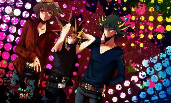Tags: Anime, Pixiv Id 5146303, Yu-Gi-Oh! GX, Yu-Gi-Oh! 5D's, Yu-Gi-Oh! Duel Monsters, Yu-Gi-Oh!, Yusei Fudo, Yami Yugi, Juudai Yuuki