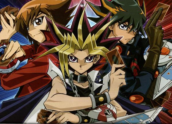 Tags: Anime, Studio Gallop, Yu-Gi-Oh!, Yu-Gi-Oh! GX, Yu-Gi-Oh! Duel Monsters, Yu-Gi-Oh! 5D's, Yami Yugi, Yusei Fudo, Juudai Yuuki, Wallpaper