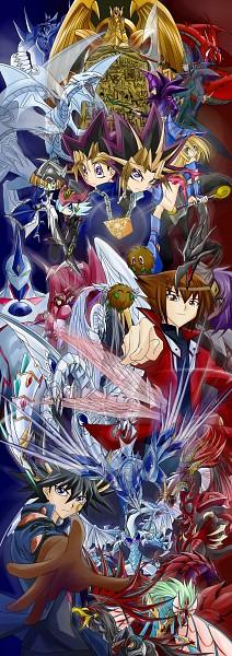 Tags: Anime, Yu-Gi-Oh! 5D's, Yu-Gi-Oh! Duel Monsters, Yu-Gi-Oh!, Yu-Gi-Oh! GX, Blue-Eyes White Dragon, Juudai Yuuki, Winged Kuriboh, Red Dragon Archfiend, Dark Magician Girl, Yusei Fudo, Cyber End Dragon, Kuriboh
