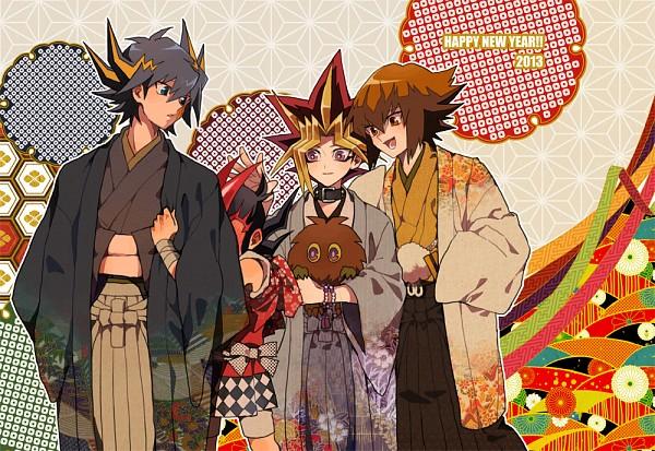 Tags: Anime, Oono (Pixiv1042542), Yu-Gi-Oh! ZEXAL, Yu-Gi-Oh! 5D's, Yu-Gi-Oh! Duel Monsters, Yu-Gi-Oh! GX, Yu-Gi-Oh!, Juudai Yuuki, Kuriboh, Yusei Fudo, Yami Yugi, Tsukumo Yuma, Covered Face