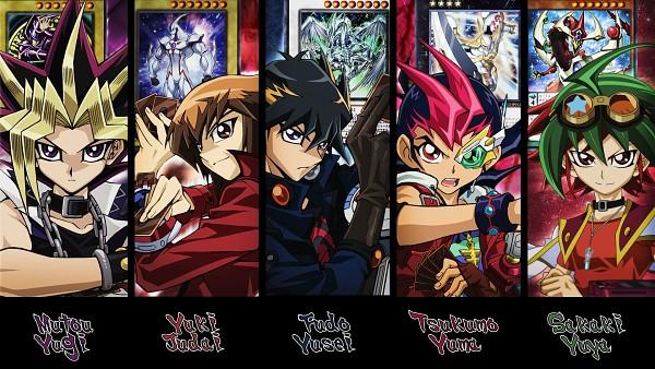Tags: Anime, Yu-Gi-Oh!, Yu-Gi-Oh! GX, Yu-Gi-Oh! ZEXAL, Yu-Gi-Oh! 5D's, Yu-Gi-Oh! ARC-V, Yu-Gi-Oh! Duel Monsters, Yusei Fudo, Tsukumo Yuma, Sakaki Yuya, Juudai Yuuki, Yami Yugi, HD Wallpaper