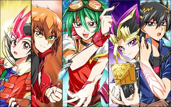 Tags: Anime, Radiwo, Yu-Gi-Oh! 5D's, Yu-Gi-Oh! Duel Monsters, Yu-Gi-Oh!, Yu-Gi-Oh! GX, Yu-Gi-Oh! ARC-V, Yu-Gi-Oh! ZEXAL, Juudai Yuuki, Yami Yugi, Yusei Fudo, Sakaki Yuya, Tsukumo Yuma