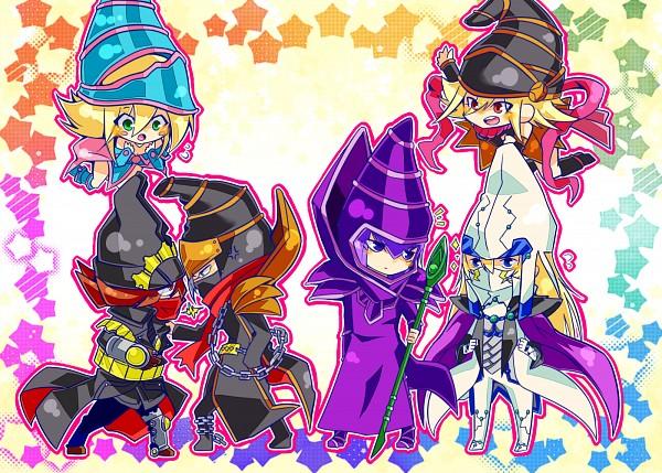 Tags: Anime, Pixiv Id 4107234, Yu-Gi-Oh!, Yu-Gi-Oh! ARC-V, Yu-Gi-Oh! ZEXAL, Yu-Gi-Oh! Duel Monsters, Gagaga Girl, Dark Magician, Timegazer Magician, Gagaga Magician, Dark Magician Girl, Stargazer Magician, Fanart From Pixiv