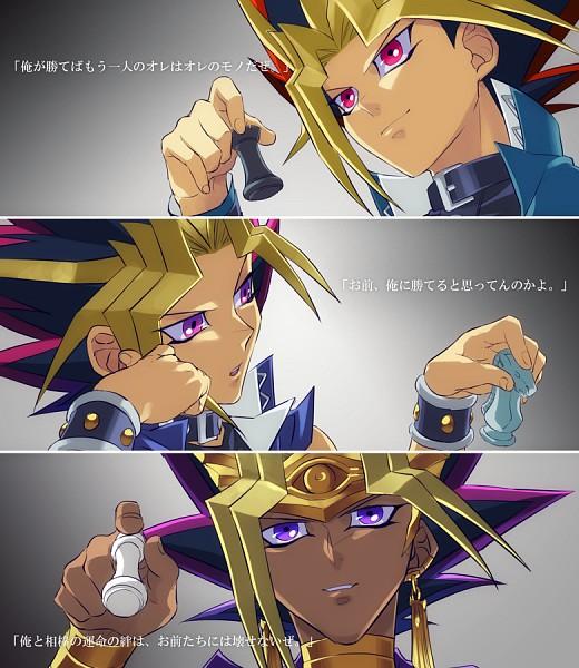 Tags: Anime, Rokuro, Yu-Gi-Oh! Season Zero, Yu-Gi-Oh! Duel Monsters, Yu-Gi-Oh!, Pharaoh Atem, Yami Yugi, Fanart From Pixiv, Fanart, Pixiv