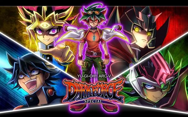 Tags: Anime, Kaminari Jin, Yu-Gi-Oh! Season Zero, Yu-Gi-Oh! ARC-V, Yu-Gi-Oh! ZEXAL, Yu-Gi-Oh! 5D's, Yu-Gi-Oh! GX, Yu-Gi-Oh!, Haou, Dark ZEXAL, Juudai Yuuki, Yusei Fudo, Yami Yugi