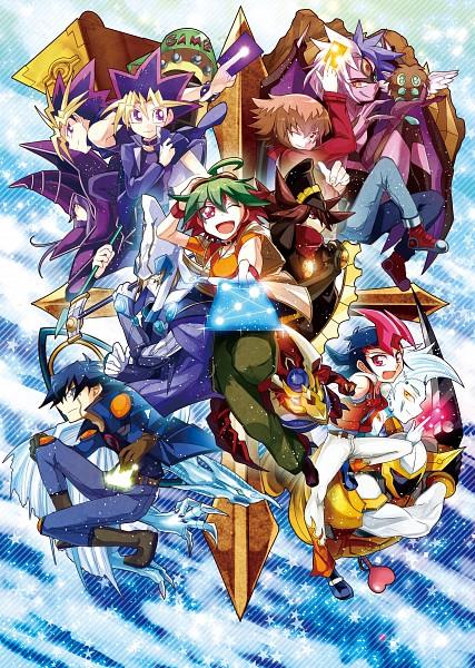 Tags: Anime, Eirakko, Yu-Gi-Oh! ARC-V, Yu-Gi-Oh! 5D's, Yu-Gi-Oh! ZEXAL, Yu-Gi-Oh! Duel Monsters, Yu-Gi-Oh! GX, Yu-Gi-Oh!, Tsukumo Yuma, Juudai Yuuki, Stargazer Magician, Mutou Yuugi, Yusei Fudo