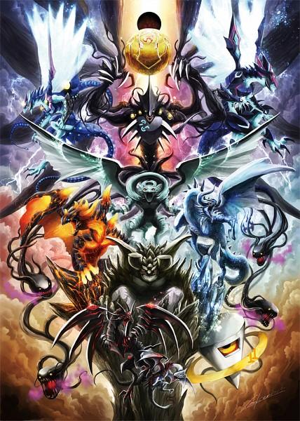 Tags: Anime, Pixiv Id 13109941, Yu-Gi-Oh!, Yu-Gi-Oh! ZEXAL, Redox Dragon Ruler of Boulders, Gandora the Dragon of Destruction, Blaster Dragon Ruler of Infernos, Tidal Dragon Ruler of Waterfalls, Tempest Dragon Ruler of Storms, Galaxy-Eyes Photon Dragon, Number 95: Galaxy-eyes Dark Matter Dragon, Number 11: Big Eye, Pixiv