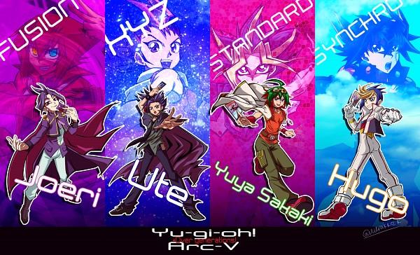 Tags: Anime, Pixiv Id 396980, Yu-Gi-Oh! GX, Yu-Gi-Oh! ARC-V, Yu-Gi-Oh! ZEXAL, Yu-Gi-Oh! 5D's, Yu-Gi-Oh! Duel Monsters, Yu-Gi-Oh!, Tsukumo Yuma, Dark Rebellion Xyz Dragon, Starve Venom Fusion Dragon, Yuto (Yu-Gi-Oh! ARC-V), Yuuri (Yu-Gi-Oh! ARC-V)