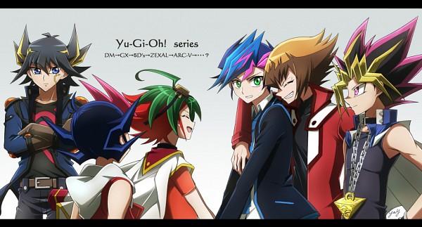 Tags: Anime, Pixiv Id 2010304, Yu-Gi-Oh! VRAINS, Yu-Gi-Oh! ZEXAL, Yu-Gi-Oh! 5D's, Yu-Gi-Oh! Duel Monsters, Yu-Gi-Oh!, Yu-Gi-Oh! GX, Yu-Gi-Oh! ARC-V, Tsukumo Yuma, Fujiki Yuusaku, Juudai Yuuki, Yami Yugi