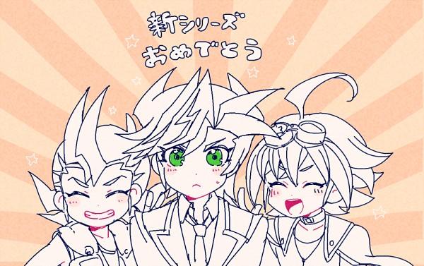 Tags: Anime, Nns146, Yu-Gi-Oh! VRAINS, Yu-Gi-Oh! ARC-V, Yu-Gi-Oh! ZEXAL, Yu-Gi-Oh!, Fujiki Yuusaku, Sakaki Yuya, Tsukumo Yuma, Pixiv, Fanart From Pixiv, PNG Conversion, Fanart