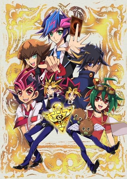 Tags: Anime, Pixiv Id 1579210, Yu-Gi-Oh! VRAINS, Yu-Gi-Oh! ARC-V, Yu-Gi-Oh! GX, Yu-Gi-Oh!, Yu-Gi-Oh! ZEXAL, Yu-Gi-Oh! Duel Monsters, Yu-Gi-Oh! 5D's, Juudai Yuuki, Sakaki Yuya, Kuriboh, Fujiki Yuusaku