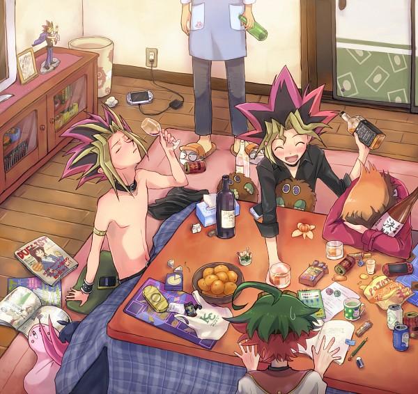 Tags: Anime, Pixiv Id 11364203, Yu-Gi-Oh! ARC-V, Yu-Gi-Oh! 5D's, Yu-Gi-Oh! ZEXAL, Yu-Gi-Oh! GX, Yu-Gi-Oh! Duel Monsters, Yu-Gi-Oh!, Juudai Yuuki, Marshmallon, Tsukumo Yuma, Tenjouin Fubuki, Mutou Yuugi