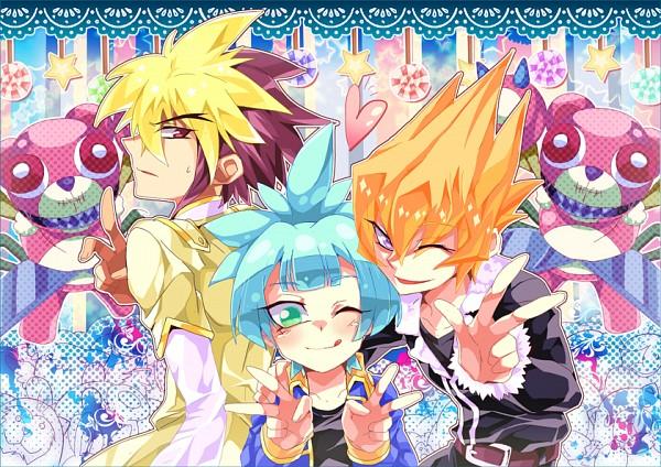 Tags: Anime, Eirakko, Yu-Gi-Oh! ARC-V, Yu-Gi-Oh! ZEXAL, Yu-Gi-Oh!, Shiunin Sora, Fluffal Bear, Vector (Yu-Gi-Oh! ZEXAL), Frightfur Bear, IV (Yu-Gi-Oh! ZEXAL), Fluffal Leo, Fanart, Fanart From Pixiv