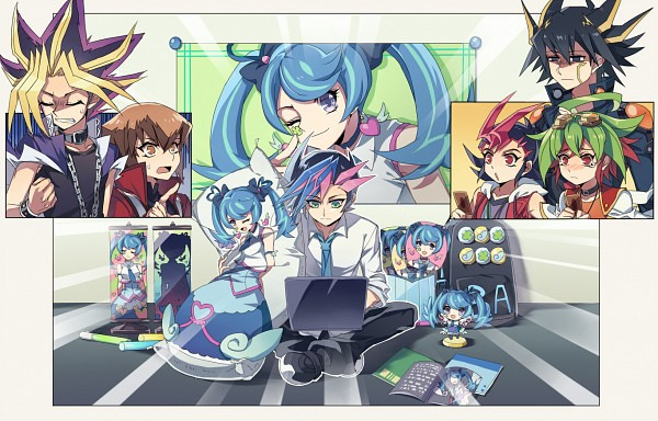 Tags: Anime, Pixiv Id 1002989, Yu-Gi-Oh! VRAINS, Yu-Gi-Oh! 5D's, Yu-Gi-Oh! ARC-V, Yu-Gi-Oh! GX, Yu-Gi-Oh!, Yu-Gi-Oh! ZEXAL, Yu-Gi-Oh! Duel Monsters, Juudai Yuuki, Sakaki Yuya, Tsukumo Yuma, Blue Angel