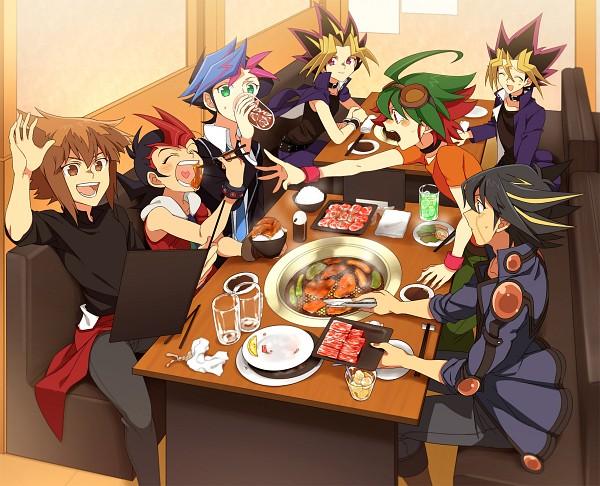 Tags: Anime, Pixiv Id 9713212, Yu-Gi-Oh! VRAINS, Yu-Gi-Oh! GX, Yu-Gi-Oh! ARC-V, Yu-Gi-Oh!, Yu-Gi-Oh! ZEXAL, Yu-Gi-Oh! 5D's, Yu-Gi-Oh! Duel Monsters, Fujiki Yuusaku, Mutou Yuugi, Juudai Yuuki, Yusei Fudo