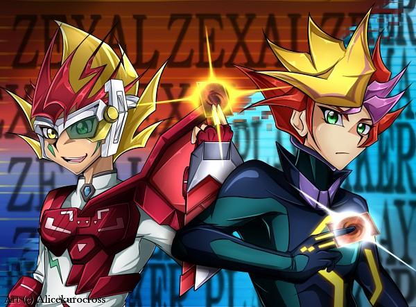 Tags: Anime, AliceKuroCross, Yu-Gi-Oh! VRAINS, Yu-Gi-Oh! ZEXAL, Yu-Gi-Oh!, Tsukumo Yuma, Playmaker, ZEXAL Power Fusion, Fujiki Yuusaku, Duel Gazer, Fanart, deviantART, Self Made