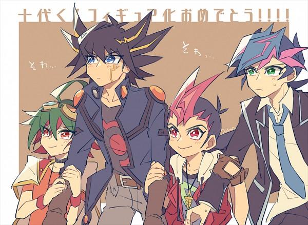 Tags: Anime, Pixiv Id 2211140, Yu-Gi-Oh! VRAINS, Yu-Gi-Oh! ARC-V, Yu-Gi-Oh! ZEXAL, Yu-Gi-Oh! 5D's, Yu-Gi-Oh!, Fujiki Yuusaku, Yusei Fudo, Tsukumo Yuma, Sakaki Yuya, Emperor's Key, Fanart