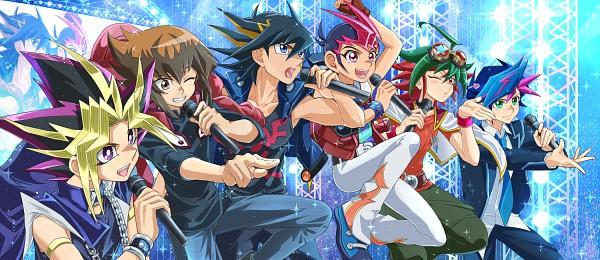 Tags: Anime, Pixiv Id 7085996, Yu-Gi-Oh! VRAINS, Yu-Gi-Oh! ARC-V, Yu-Gi-Oh! ZEXAL, Yu-Gi-Oh! GX, Yu-Gi-Oh! Duel Monsters, Yu-Gi-Oh!, Yu-Gi-Oh! 5D's, Fujiki Yuusaku, Juudai Yuuki, Tsukumo Yuma, Yusei Fudo