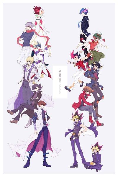 Tags: Anime, Pixiv Id 20053320, Yu-Gi-Oh! VRAINS, Yu-Gi-Oh! 5D's, Yu-Gi-Oh! ARC-V, Yu-Gi-Oh! ZEXAL, Yu-Gi-Oh! GX, Yu-Gi-Oh! Duel Monsters, Yu-Gi-Oh!, Tenjou Kaito, Fujiki Yuusaku, Jack Atlas, Sakaki Yuya