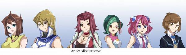 Tags: Anime, AliceKuroCross, Yu-Gi-Oh! VRAINS, Yu-Gi-Oh! ZEXAL, Yu-Gi-Oh!, Yu-Gi-Oh! ARC-V, Yu-Gi-Oh! Duel Monsters, Yu-Gi-Oh! GX, Yu-Gi-Oh! 5D's, Mazaki Anzu, Hiiragi Yuzu, Izayoi Aki, Tenjouin Asuka