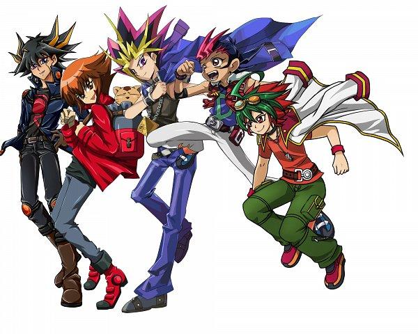 Tags: Anime, Pixiv Id 5330618, Yu-Gi-Oh!, Yu-Gi-Oh! GX, Yu-Gi-Oh! ZEXAL, Yu-Gi-Oh! 5D's, Yu-Gi-Oh! ARC-V, Yu-Gi-Oh! Duel Monsters, Yusei Fudo, Pharaoh (Cat), Tsukumo Yuma, Sakaki Yuya, Juudai Yuuki