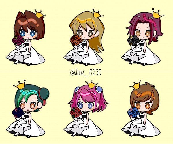 Tags: Anime, Pixiv Id 12197260, Yu-Gi-Oh! VRAINS, Yu-Gi-Oh! Duel Monsters, Yu-Gi-Oh!, Yu-Gi-Oh! GX, Yu-Gi-Oh! ARC-V, Yu-Gi-Oh! ZEXAL, Yu-Gi-Oh! 5D's, Tenjouin Asuka, Hiiragi Yuzu, Mizuki Kotori, Izayoi Aki