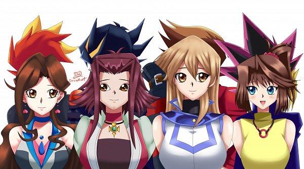 Tags: Anime, Sincity2100, Yu-Gi-Oh! VRAINS, Yu-Gi-Oh! The Dark Side of Dimensions, Yu-Gi-Oh! 5D's, Yu-Gi-Oh! Duel Monsters, Yu-Gi-Oh!, Yu-Gi-Oh! GX, Juudai Yuuki, Mutou Yuugi, Yusei Fudo, Zaizen Aoi, Mazaki Anzu