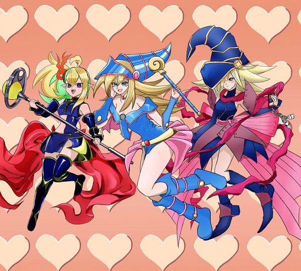 Tags: Anime, Pixiv Id 31897999, Yu-Gi-Oh! SEVENS, Yu-Gi-Oh! Duel Monsters, Yu-Gi-Oh!, Yu-Gi-Oh! ZEXAL, Dark Magician Girl, Gagaga Girl, Seventh Road Witch, Pixiv, Fanart From Pixiv, Fanart