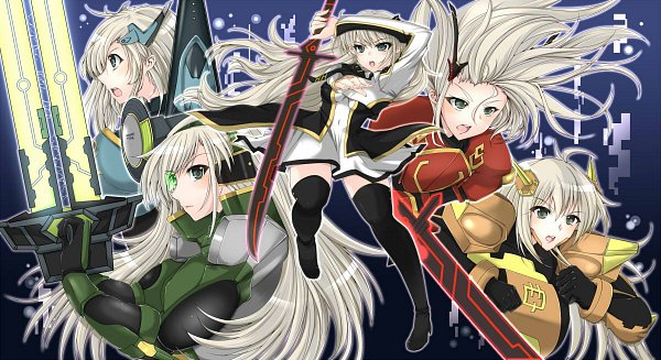 Tags: Anime, Pixiv Id 39012, Yu-Gi-Oh!, Sky Striker Ace - Shizuku, Sky Striker Ace - Kagari, Sky Striker Ace - Raye, Sky Striker Ace - Kaina, Sky Striker Ace - Hayate, Pixiv, Fanart, Fanart From Pixiv