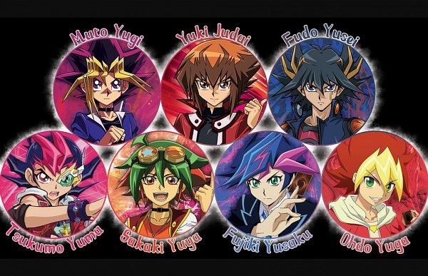 Tags: Anime, Yu-Gi-Oh! SEVENS, Yu-Gi-Oh! VRAINS, Yu-Gi-Oh! GX, Yu-Gi-Oh! ZEXAL, Yu-Gi-Oh! 5D's, Yu-Gi-Oh! ARC-V, Yu-Gi-Oh!, Yu-Gi-Oh! Duel Monsters, Tsukumo Yuma, Oudou Yuuga, Sakaki Yuya, Juudai Yuuki