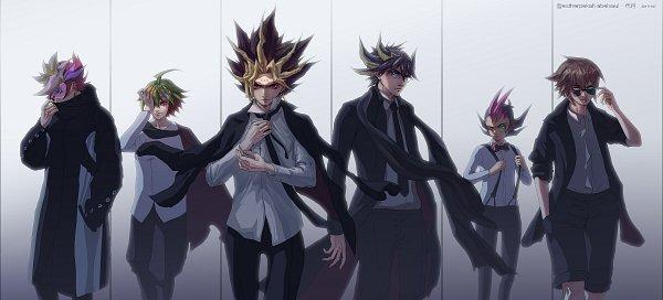 Tags: Anime, Pixiv Id 3786674, Yu-Gi-Oh! VRAINS, Yu-Gi-Oh! Duel Monsters, Yu-Gi-Oh!, Yu-Gi-Oh! GX, Yu-Gi-Oh! ARC-V, Yu-Gi-Oh! ZEXAL, Yu-Gi-Oh! 5D's, Juudai Yuuki, Fujiki Yuusaku, Yami Yugi, Yusei Fudo