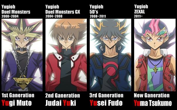Tags: Anime, Pixiv Id 1992385, Yu-Gi-Oh!, Yu-Gi-Oh! GX, Yu-Gi-Oh! ZEXAL, Yu-Gi-Oh! 5D's, Yu-Gi-Oh! Duel Monsters, Tsukumo Yuma, Mutou Yuugi, Juudai Yuuki, Yami Yugi, Yusei Fudo, Chain Necklace