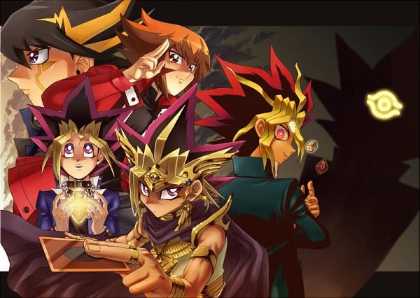 Tags: Anime, Yu-Gi-Oh! Season Zero, Yu-Gi-Oh!, Yu-Gi-Oh! 5D's, Yu-Gi-Oh! Duel Monsters, Yu-Gi-Oh! GX, Mutou Yuugi, Juudai Yuuki, Pharaoh Atem, Yusei Fudo, Yami Yugi, Dice, Eye (Symbol)