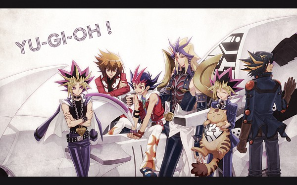 Tags: Anime, Tea (Retroz), Yu-Gi-Oh! Bonds Beyond Time, Yu-Gi-Oh! GX, Yu-Gi-Oh! Duel Monsters, Yu-Gi-Oh! ZEXAL, Yu-Gi-Oh! 5D's, Yu-Gi-Oh!, Paradox, Pharaoh (Cat), Juudai Yuuki, Yami Yugi, Tsukumo Yuma