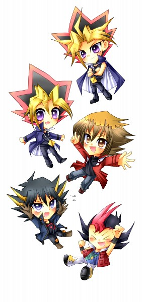 Tags: Anime, Yu-Gi-Oh! ZEXAL, Yu-Gi-Oh! 5D's, Yu-Gi-Oh!, Yu-Gi-Oh! Duel Monsters, Yu-Gi-Oh! GX, Juudai Yuuki, Yami Yugi, Mutou Yuugi, Yusei Fudo, Tsukumo Yuma, Fanart, Pixiv