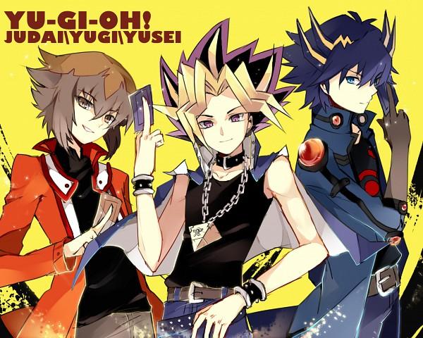Tags: Anime, Studio Gallop, Yu-Gi-Oh! GX, Yu-Gi-Oh! Duel Monsters, Yu-Gi-Oh! 5D's, Yu-Gi-Oh!, Juudai Yuuki, Yami Yugi, Yusei Fudo, Fanart, Pixiv