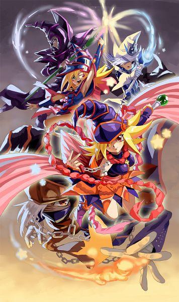 Tags: Anime, Xelwyw1103, Yu-Gi-Oh! Duel Monsters, Yu-Gi-Oh! ZEXAL, Yu-Gi-Oh!, Gagaga Magician, Gagaga Girl, Dark Magician Girl, Dark Magician, Silent Magician, Sorcerer, Fanart, Pixiv