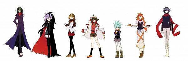 Tags: Anime, Pixiv Id 10307472, Yu-Gi-Oh!, Yu-Gi-Oh! ARC-V, Shiunin Sora, Kurosaki Shun, Akaba Reiji, Sakaki Yuya, Yuto (Yu-Gi-Oh! ARC-V), Sawatari Shingo, Mokota Michio, Pixiv, Fanart