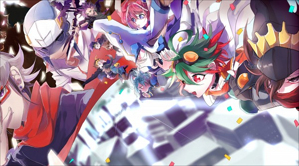Tags: Anime, Pixiv Id 2765210, Yu-Gi-Oh!, Yu-Gi-Oh! ARC-V, Yuugo (Yu-Gi-Oh! ARC-V), Yuto (Yu-Gi-Oh! ARC-V), Hiiragi Yuzu, Kurosaki Shun, Timegazer Magician, Akaba Reiji, Toudou Yaiba, Stargazer Magician, Akaba Leo