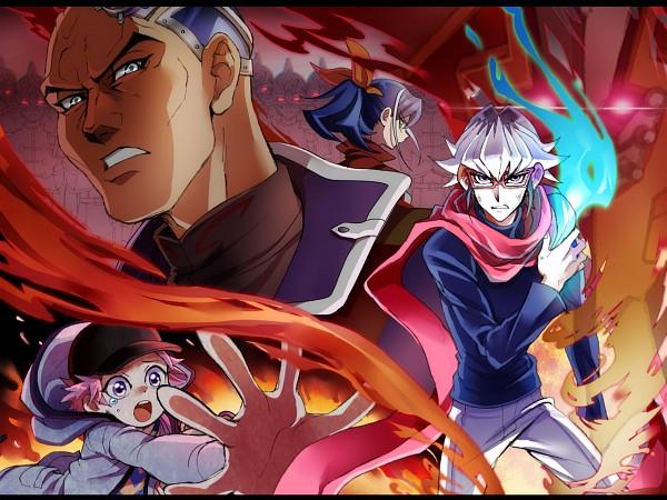 Tags: Anime, Pixiv Id 3245063, Yu-Gi-Oh! ARC-V, Yu-Gi-Oh!, Akaba Reira, Obelisk Force, Akaba Reiji, Akaba Leo, Serena (Yu-Gi-Oh! ARC-V), Obelisk Force Uniform, Pixiv, Wallpaper, Fanart