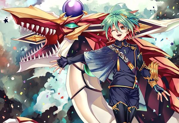 Tags: Anime, Pixiv Id 2402082, Yu-Gi-Oh!, Yu-Gi-Oh! ARC-V, Odd-Eyes Pendulum Dragon, Sakaki Yuya, Fanart, Fanart From Pixiv, Pixiv