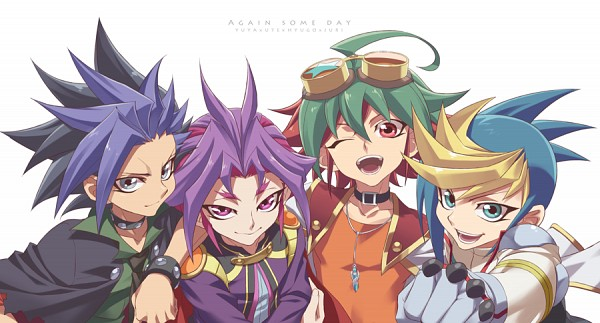 Tags: Anime, Rokuro, Yu-Gi-Oh!, Yu-Gi-Oh! ARC-V, Yuto (Yu-Gi-Oh! ARC-V), Sakaki Yuya, Yuuri (Yu-Gi-Oh! ARC-V), Yuugo (Yu-Gi-Oh! ARC-V), Fanart, Facebook Cover, PNG Conversion