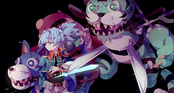 Tags: Anime, Pixiv Id 3457022, Yu-Gi-Oh! ARC-V, Yu-Gi-Oh!, Frightfur Tiger, Frightfur Wolf, Shiunin Sora, Fanart, Fanart From Pixiv, Pixiv, Wallpaper