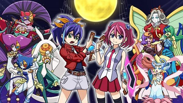Tags: Anime, Pixiv Id 16230954, Yu-Gi-Oh!, Yu-Gi-Oh! ARC-V, Hiiragi Yuzu, Lunalight White Rabbit, Bloom Diva the Melodious Choir, Lunalight Purple Butterfly, Serena (Yu-Gi-Oh! ARC-V), Lunalight Cat Dancer, Mozarta the Melodious Maestra, Lunalight Blue Cat, Aria the Melodious Diva