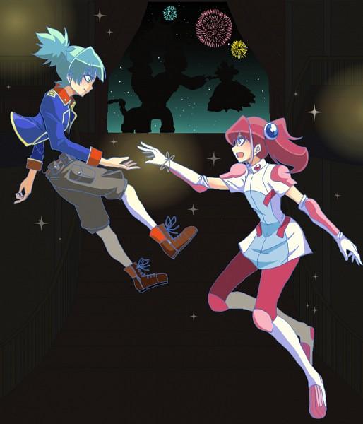 Tags: Anime, Pixiv Id 3017358, Yu-Gi-Oh!, Yu-Gi-Oh! ARC-V, Hiiragi Yuzu, Bloom Prima the Melodious Choir, Frightfur Chimera, Shiunin Sora, Rin (Yu-Gi-Oh! ARC-V) (Cosplay), Fanart, Fanart From Pixiv, PNG Conversion, Pixiv