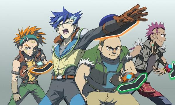 Tags: Anime, Pixiv Id 14352691, Yu-Gi-Oh! ARC-V, Yu-Gi-Oh! 5D's, Yu-Gi-Oh!, Tony Simmons, Damon Lopez, Shinji Weber, Crow Hogan, Pixiv, Fanart From Pixiv, PNG Conversion, Fanart
